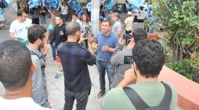 Felipe Peixoto grava programa eleitoral no Fonseca
